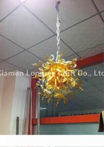 Oda Dekoratif Kristal Sanat Tasarım kolye lambalar Yemek LED Ucuz Avize Işık Mini Boyutu Asma C88-Amber Murano Stili Cam
