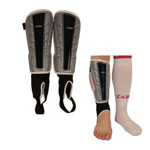 Karate Futbol Soccor Kick Boks Spor Bacaklar Isıtıcı Shields Kemer Çorap için 1 çift Bacak Pedler Shin Guard Buzağı Koruyucu Plaka