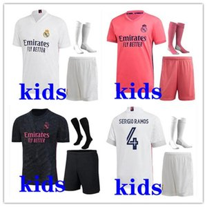 Дети 2020 2021 футбол комплекты Реал футбол Джерси 19-21 Camiseta де Futbol ОПАСНОСТИ Бензема ISCO Модрич Детские футбольные комплекты