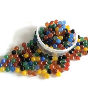 6mm 8mm Jade Rubin Terp Perlen-Quarz-Dab-Korn-Kugeln Einsätze für Carb Spinning Caps Quarz Banger Glas Wasser Bongs Dab Rigs