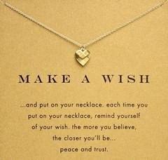 Catena 18 K placcato oro clavicola Bella Wishbone breve Collana pendente pendenti di collane per le donne Girls (senza carta di carta) HEuv #