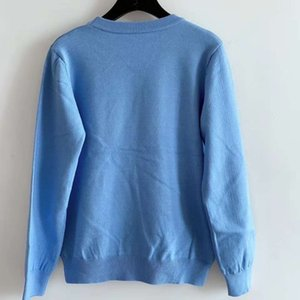 711 2020 Autumn Brand Same Style Sweater Pullover Crew Neck Long Sleeve Black White Blue Fashion Womens Clothes QIAN