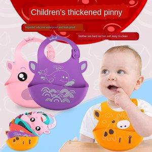 KIDNOAM silicone bébé serviette serviette silicone bavette à manger sac étanche bébé à manger bavette enfants sac d'alimentation