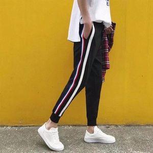 Hommes Mode Sweatpants Pantalons Crayon Casual Striped actif Imprimer Pantalon Corsaire Adolescent High Street Vêtements S-5XL Hommes Pantalons AFhi #
