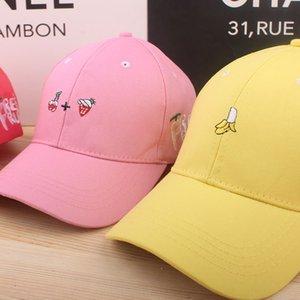 Korean fashion fruit hat outdoor leisure shopping couple hat children's curved brim baseball Fruit baseball cap cap tide