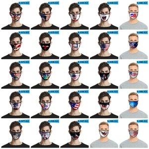Impressão 3D Mask US Independence Day 40 Styles Ice Silk respirável Máscara Anti partículas de poeira eu não posso respirar T3I5961