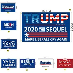 Trump 2020 flag 2020 us presidential election campaign flag Joe Biden Bernie Sanders Andrew Yang 2020 flags Polyester Decor Banner T3I5658