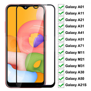 Temperierter Glas-Display-Beschützer für Samsung Galaxy A11 A21S A8 plus A71 A51 S10LITE A91 A70 NOW10 Lite A90 Kein Paket