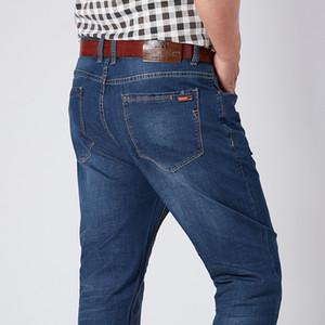 Men Plus Size Pants jeans strech comfortable 38 40 42 44 46 48 52 Mens High Stretch Large Trouser Loose Jeans for Men