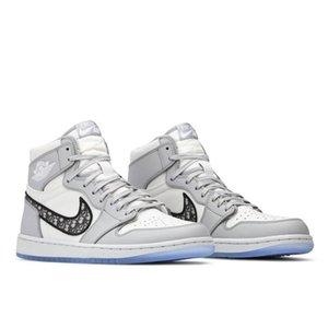 2020 Designers Oblique X AJ 1 high Shoes 01 Homme X Kaws0 By Kim Jones Casual Shoes basketball Sneakers