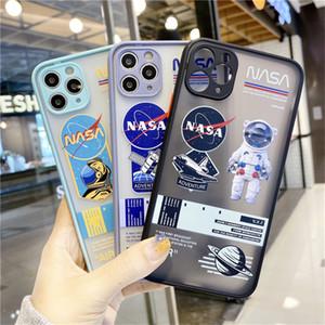 La NASA prueba de golpes contra caídas Protección de la lente caja del teléfono para iPhone Pro Max 11 7 8 más la caja de XS XR X Cubre translúcido Protección contraportada