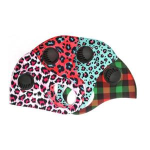Máscaras Leopard PM2.5 rosto com respirável Válvula Lavável Dustproof ajustável revestimento de impressão de algodão reutilizáveis Boca Máscaras YYA309 120pcs