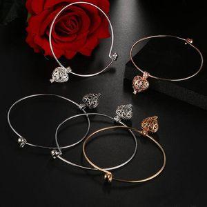 New unique women cuff bangle Aroma fragrance essential oil diffuser bracelets Fashion DIY hollow heart bangles ps0774