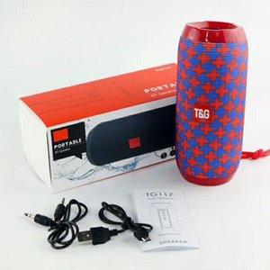 TG117 Haut-parleurs Bluetooth haut-parleur portable double Klaxon extérieur étanche sans fil Haut-parleurs Subwoofers Support de carte TF Radio FM 1200mAh