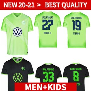 20 21 VLL Wolfsburg Soccer Jerseys Wehorst Arnold 2020 2021 Malli Brekalo Chemise de football Mehmedi Chemise de football Roussillon Xaver Camisetas