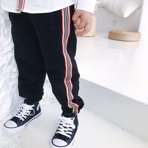 Sports Pantalons Mode Printemps Automne Bébé Garçon Pantalons Couleur solides Coton Stripe Pantalons Vêtements enfants