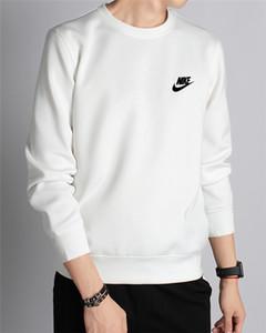 Wholesale- LeeLion 2017 Herbst-Winter-Pullover Männer Nike Fleece verdicken Sweatshirts Reißverschluss Cardigan Baumwollsportkleidung dünne Massiv Tracksu