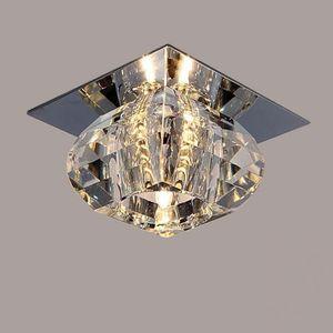 Modern LED Kristal Tavan Işık Balkon Tavan Lambaları Salon Tavan Işık 3W LED Spotlight led arka plan lambası
