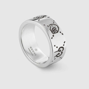 Design Real 925 Sterling Silver Vintage Rings for Women Men Lovers Punk Fashion Cool Jewelry CHOST Ring Bijoux with Gifts Box