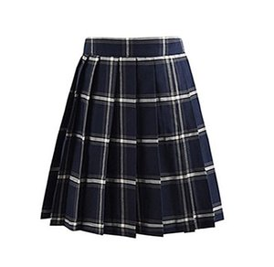 Check Pattern Uniform Cosplay Pleat Plaid Skirts Fashion Mini Homecoming Skirt A Line JK02 Party Cocktail Dress Burgundy Girls Dresses