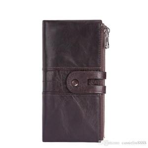 New fashion design women genuine leather wallet lady ladies long purse