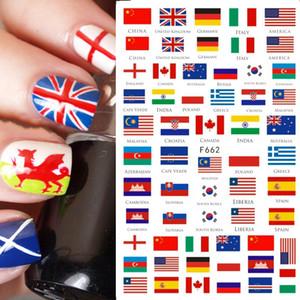 Prego Etiqueta 3D decalques Bandeira Nacional Flores borboleta Detalhes no Sliders DIY Manicure Nail Art Watermark Decor CHF662-671
