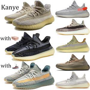2020 Шлак Абези Светоотражающие Азриэл Oreo Исрафил кроссовки с коробкой Kanye Runner обувь Tail Light Zyon Yechei Black Static Мужчины кроссовки