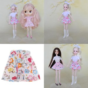 12 Inch Girl Doll Pleated Skirt Casual DIY Handmade Dress up Kids Gifts Accs