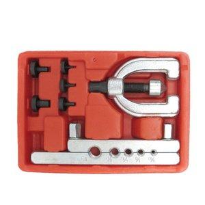 Metric Doppel Abfackeln Bremsleitung Tool Kit Rohr Abfackeln Kit Bremsspritschlauch-Reparatur-Flare-Werkzeug-Set für Automotive Rohr