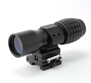 Tactical 5x Magnifier Scope With QD Mount In Black