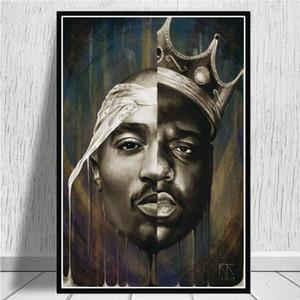 Duvar Posterler Ve Baskılar 2Pac Modern Wall Art Canvas Resimleri Ev Dekorasyon On The Big Ve Tupac Tuval resimlerinin Portresi
