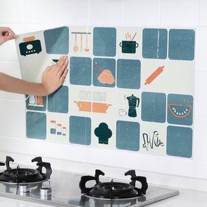 Kitchen Oil Stickers Kitchenware Self-adhesive High Temperature Oil Stickers Home Stove Ceramic Tile Wall Stickers Anti-oil
