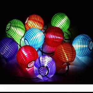 Tatil Işıklar Dekorasyon 4 Meter bir ayarlama için Edison2011 AC110V Girdi ABD Tak 10pcs Amerikan Bayrağı Kağıt Fener 75mm Çap LED String Işık