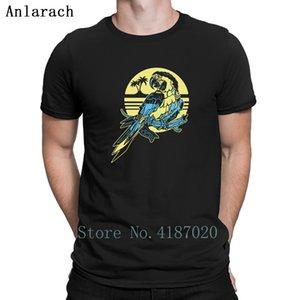 Tropical Parrot Tshirts Letters Cotton Summer Top Male Men's Tshirt Create Fitness Summer Anlarach Super