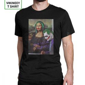 Joker Mona Lisa Camisetas Ela tem um burro quente do vintage camisetas de manga curta roupa presente de aniversário camiseta de algodão puro do homem