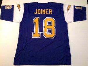 Cheap Retro personalizzato cucito cucito # 18 Charlie Joiner blu MITCHELL NESS Top in jersey S-5XL, pullover di football rugby 6XL degli uomini