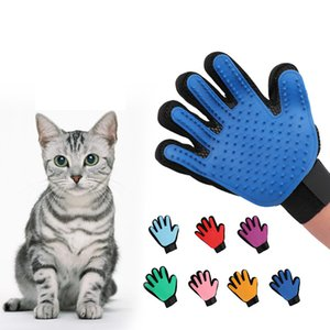 Pet dog grooming gloves pet hair removal cleaner cat dog hair brush comb massage hair removal gloves XD23699