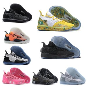 أحذية جديدة المدربين KD 11 EP الأبيض أورانج رغوة الوردي المذعور أوريو ICE كرة السلة الأصل حذاء رياضة size40-46