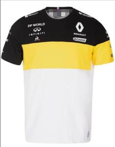 Aynı gelenek ile F1 Renault 2020 Renault 2020 polyester çabuk kuruyan kısa kollu tişört spor Tee yaka takım elbise yarış takım elbise