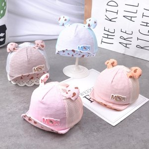 G736 mushroom antennae small label net hat flip hat cartoon sunshade Kingdom baby cap Antenna baby cap