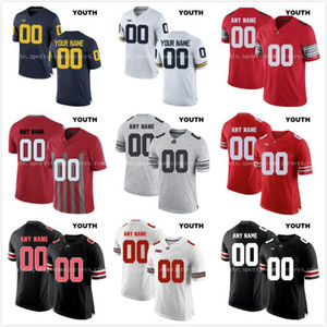 Custom Youth Ohio State Buckeyes Колледж Футбол Limited Белый Красный Черный Серый Персонализированные Сшитые Любое имя № 16 Барретт
