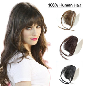Clip in bangs hair extensions human hair air bangs fringe hairpieces hand made tied bangs for women