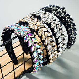 Cristal Feuilles Bandeau Bandeaux Femmes verre Drill Bandeaux Mode Hoop cheveux Accessoires cheveux Outils J1507