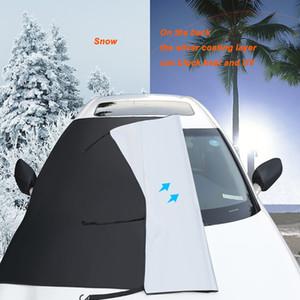 Pare-brise de voiture magnétique de la couverture neigeuse avant Pare-brise neige Bouclier multifonction d'hiver de givre Garde Pare-soleil protecteurs couverture