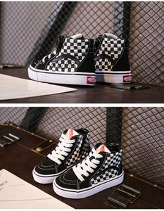 New arrival designer shoes high-tops canvas shoes Side zipper Boy girl casual shoes 244