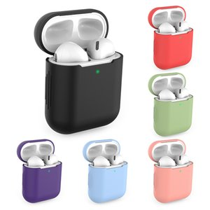 Soft Protective Case Cover For Apple Airpods 2 1 Bluetooth Earphone Solid Color Anti-Fall Shell Headset Accessories For Airpods