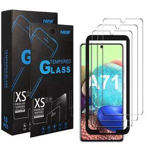 Os mais recentes Básico vidro temperado para Samsung Galaxy A21 A11 A01 A51 A71 Nota 10 Lite s10 Lite Anti-Risco Limpar protetor de tela