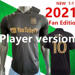 وصل جديد 2020 LAFC كارلوس فيلا كرة القدم الفانيلة قمصان 20/21 الرئيسية X زيلايا ROSSI لوس انجليس FC الأسود المفاوضة الابتدائية WHITE كرة القدم