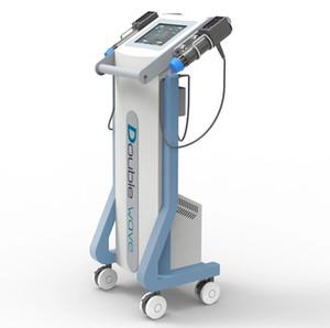2020 poignées doubles relief onde de choc de la douleur musculaire ed machine de thérapie par ondes de choc de traitement de la dysfonction érectile thérapie shockwave poids réduire