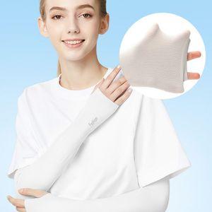 Raffreddare Outdoor Sport Fashion Ice manica seta ghiaccio respirazione protezione solare estate del manicotto guanti per donne degli uomini addestramento di equitazione Manicotti CYZ2577